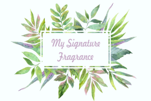 Sample signature fragrance label - create natural perfumes